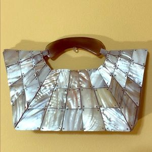 Vintage Shiraleah Mother of Pearl Purse
